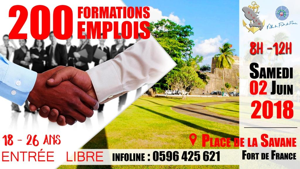 200 formations 200 emplois . bandeau madiana